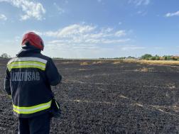 Tíz hektáron égett a lábon álló gabona Körmenden