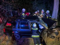Autó ütközött fának Kissomlyónál